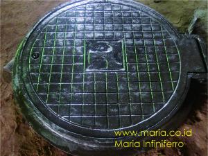 Manhole cover bulat 60 cm