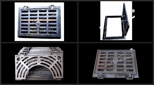 grill cast iron tangkapan air