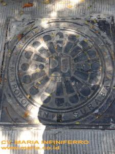 Grill Manhole Fly over Pasar Kembang