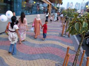 pedestrian jakarta festival