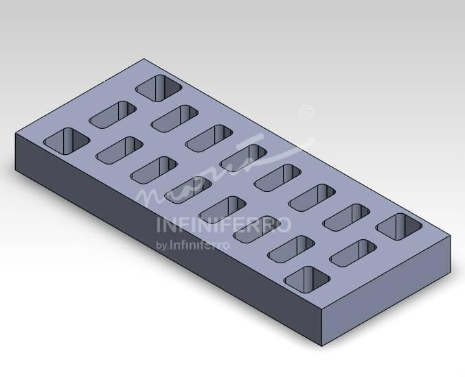 grill cast iron bandara ngurah rai motif kotak