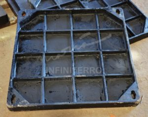manhole cover recessed cast iron