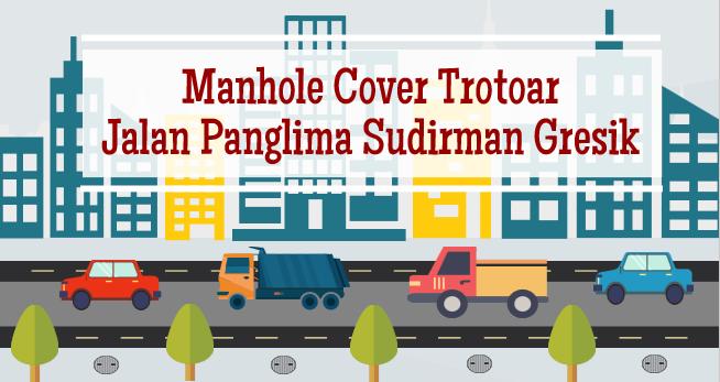 Manhole Cover Trotoar Gresik (Jl. Panglima Sudirman)
