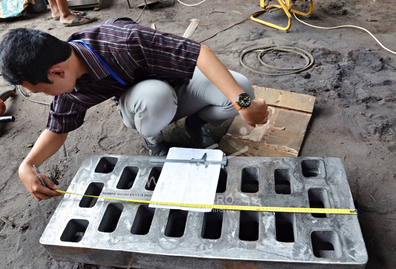 proses QC grill cast iron bandara ngurah rai