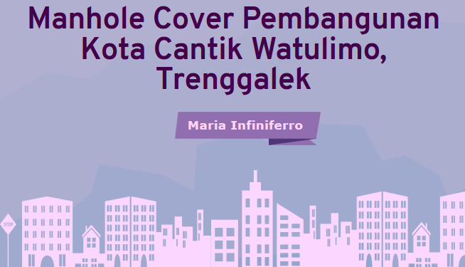 Manhole Cover Pembangunan Kota Cantik Watulimo, Trenggalek