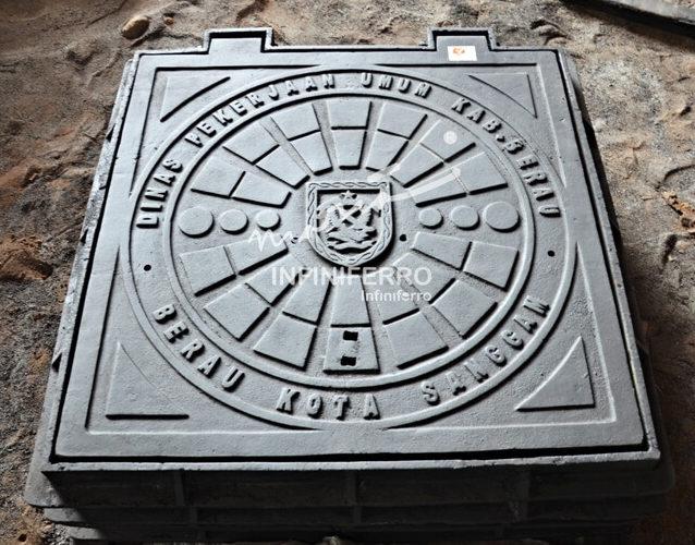 manhole cover peningkatan jalan berau