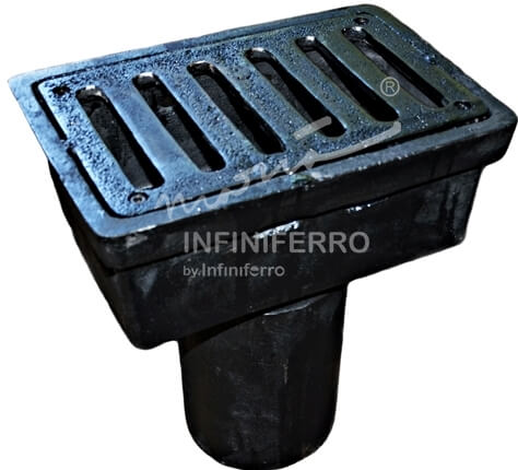 deck drain cast iron standar