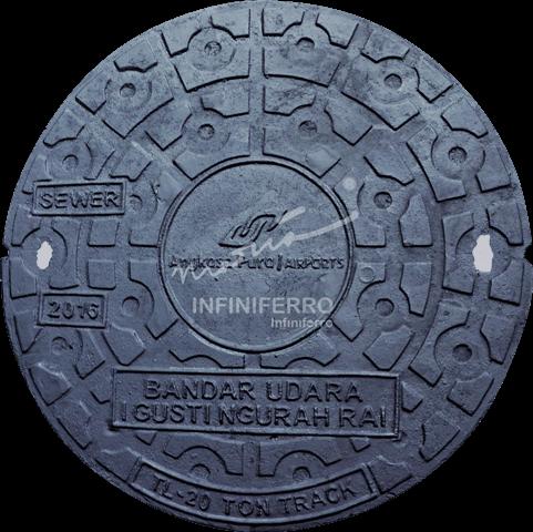 Manhole cover cast iron Bandar Udara I Gusti Ngurah Rai D650